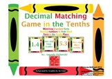 Decimal Matching Game in the Tenths