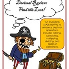 Decimal Operations Review: A Pirate Themed MAZE to reinfor