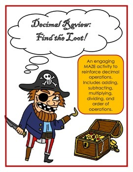 Decimal Operations Review: A Pirate Themed MAZE to reinforce decimal rules