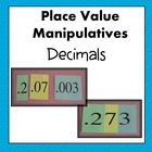 Decimal Place Value Manipulatives CCSS 5.NBT.3a and 5.NBT.3b