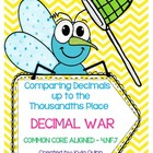 Decimal War-Comparing Decimals up to the Thousandths COMMO