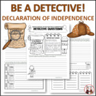 Declaration of Independence Detectives Creative Activity C