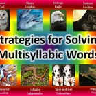 Strategies for Decoding Multisyllabic Words Bookmarks FREEBIE