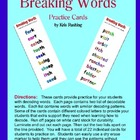 Decoding Words / Breaking Words