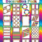 Editable Decoration Pack - Crazy Rainbow