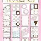 Decoration Pack - Cupcakes theme