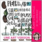 Deluxe Plant Life cycle  LINE ART bundle