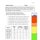 Density Column Worksheet De-6