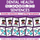 Dental Health Scrambled Sentences