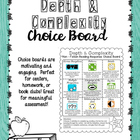 Non-Fiction Reading Response Choice Board {version 3}