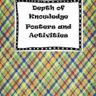 Depth of Knowledge Posters and Activities in Color and Bla