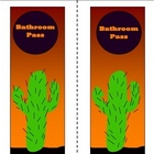 Desert Cactus Bathroom Passes