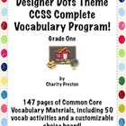 Designer Dots Theme Grade One CCSS Complete Vocabulary Pro