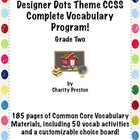 Designer Dots Theme Grade Two CCSS Complete Vocabulary Pro