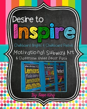 Desire to Inspire Subway Art: Chalkboard Brights and Pastels