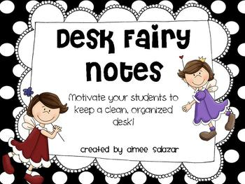 Desk Fairy Notes {FREE}