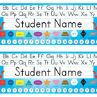 Desk Name Tags 8.5x11 (Multicolor & Editable)