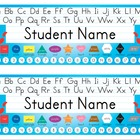 Desk Name Tags 8.5x11 in Microsoft Word (Blue & Editable)