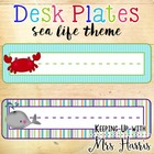 Desk Plates - Sea Life Theme