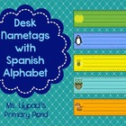Desk Name Tags / Name Plates with Spanish Alphabet and Num