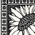 Detailed Black & White Sunflower Sheet