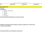 Detailed Daily Lesson Plans for Common Core Standards