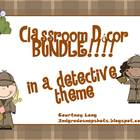 *DETECTIVE THEME CLASSROOM DECOR BUNDLE!!!*