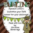 Detective Themed Buntings- Customize Your Own Banner!