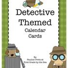 Detective Themed Calendar Cards
