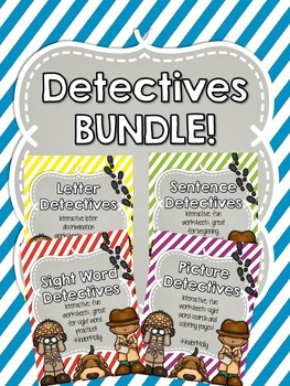 {Detectives BUNDLE} - Sight Word and Sentence practice worksheets