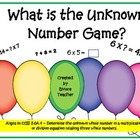 Determining an Unknown Whole Number Game