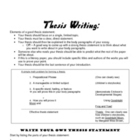 Developing Thesis Statements - Literature Essay