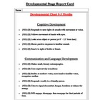 Developmental Stage Report Card