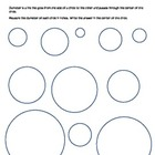 Diameter of a circle practice or assessment worksheet