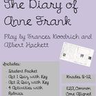 Diary of Anne Frank The Play BUNDLE (includes Packet, Quiz