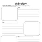 Diary pages with picture and writing