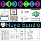 First Grade Phonics, Phonemic Awareness, and Blending MEGA Bundle