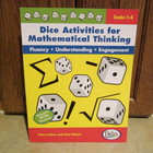 Dice Activities for Mathematical Thinking Grades 5-8