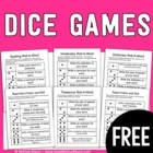 Dice Games - Reading and Language Arts - Freebie!