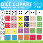Dice Graphics - Clipart and Graphics for Teaching Resources