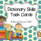Dictionary Skills Activity Cards