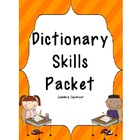 Dictionary Skills Packet for the Primary Classroom