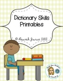 Dictionary Skills Printables