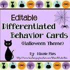 Differentiated Behavior Cards - Halloween Theme