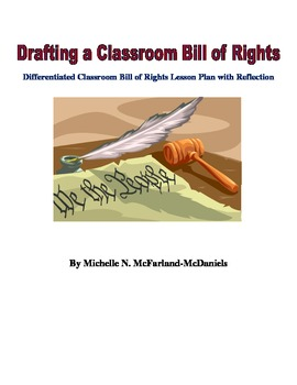 Differentiated Classroom Bill of Rights Lesson Plan with R