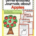 Differentiated Journal Prompts- Apples Theme