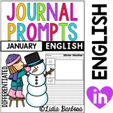 Differentiated Journal Prompts- January Themes