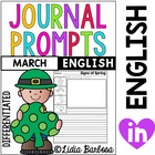 Differentiated Journal Prompts- March Themes