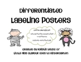 Differentiated Labeling Posters {for Halloween or dress up fun!}