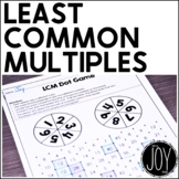 Differentiated Least Common Multiples Pack - Aligned to the CCSS